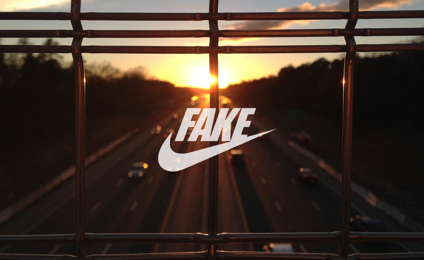 Podróbka logo NIKE